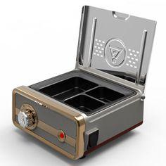 New Type Dental Lab Equipment Wax Heater 3-well Wax Heating Analog Dipping Pot #JT
