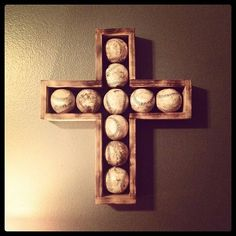 Baseball cross... Perfect in the boys room can fill it with game balls
