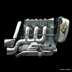 NO 64 TRIUMPH ROCKET III MOTORCYCLE ENGINE   by Gordon Calder