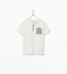 T-SHIRT WITH DENIM POCKET-T-shirts-Boy (3-14 years)-KIDS | ZARA United States