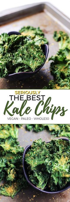 The best and most flavorful kale chips! Vegan, paleo and Whole30.
