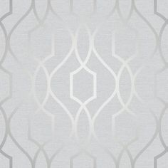 Apex Trellis Silver Luxury wallpaper from Fine Decor's Apex Collection. Modern trellis design with metallic silver design. Perfect for creating that modern in trend style. Paste the Paper Offset Match Wipeable x See more of the Apex Collection HERE Silver Luxury Wallpaper, Silver Marble Wallpaper, Geometric Trellis Wallpaper, Copper Wallpaper, Metallic Wallpaper, Silver Wallpaper Bathroom, Charcoal Wallpaper, Grey Wallpaper, Shopping