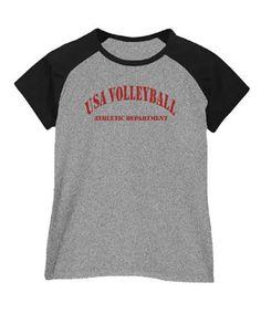 Women Raglan T-Shirt Usa Volleyball