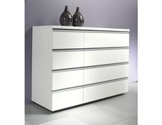 Tvilum Milano Eight Drawer Chest in White 6 Drawer Chest, Chest Of Drawers, Furniture Making, Bedroom Furniture, Wood Drawers, Bedroom Storage, Wood Construction, Wood Colors, Contemporary Style
