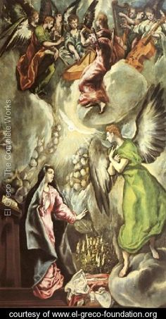 The Annunciation 1596-1600 - El Greco (Domenikos Theotokopoulos) - www.el-greco-foundation.org