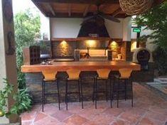 QUINCHO R.ROA House Design, Outdoor Kitchen Design, Outdoor Living, Bar Shed, Home Decor, Exterior Decor, Interior Design Living Room, Outdoor Kitchen, Outdoor Oven