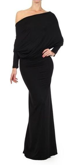 Ok....here is the dress that you should have in your closet!!!  Amazing dress can be worn so many ways!! So sexy!  Reversible and convertible!!!  The dress has long dolman sleeves and a plunging v-neck line.  Wear the plunging v-neck in the front or the back.  Wear it off either or both shoulders. Wear it strapless.