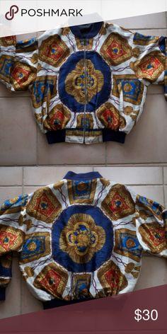 Italian Style Bomber Jacket Fits like a large but has no tags. Jackets & Coats