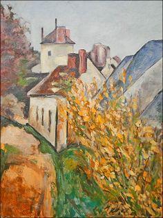 Paul Cézanne - The House of Dr Gachet in Auvers-sur-Oise, Paul Cezanne, Cezanne Art, Renoir, Aix En Provence, Claude Monet, Beautiful Paintings, Paintings I Love, Henri Matisse, French Artists