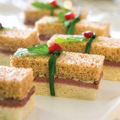 Tea sandwiches on pinterest tea sandwiches tea sandwich for Club sandwich fillings for high tea