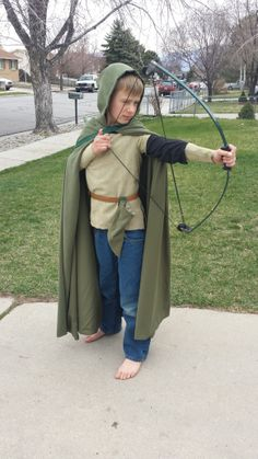 My cute grandson in his new Ranger's Apprentice costume