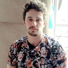 James Franco in a James Franco shirt... just yes