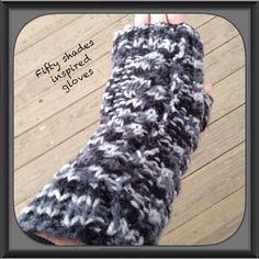 Fifty shades of Grey inspired fingerless glove