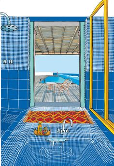 Portfolio: italian illustrator Carlo Stanga illustration works and fine art prints Web Banner Design, Design Web, Art And Illustration, Design Illustrations, Arte Sketchbook, Pixel Art, Art Inspo, Cool Art, Art Drawings