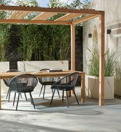 Side Yard Landscaping, Backyard Patio Designs, Pergola Designs, Backyard Projects, Balkon Design, Modern Pergola, Patio Makeover, Garden Design, Landscape Design