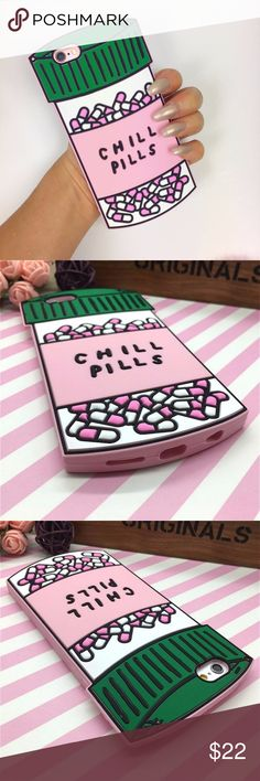 iPhone Chill Pills Case Brand new soft silicone case Accessories Phone Cases