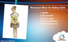 Monsoon wear for baby girls #Tomatyourhome
