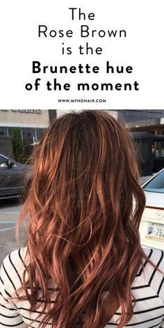 The Rose Brown is the Brunette hue of the moment. The Rose Brown is the Brunette hue of the moment. - Station Of Colored Hairs Hair Color And Cut, Cool Hair Color, Brown Hair Colors, Hair Colours 2018, Auburn Hair Colors, Hair Color Brown, Brown Auburn Hair, Red Brown Hair Color, Brown Curly Hair