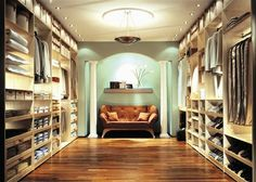 Great colors and neaty closet  #closetobsession #walkin #dressroom