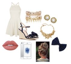 """""""Untitled #213"""" by awesthoff0513 on Polyvore featuring Topshop, Kate Spade, River Island, Oscar de la Renta, Kendra Scott and Lime Crime"""