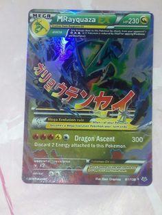 Carta Pokemon Mega Rayquaza EX XY Furie Volanti inglese nuova olografica rara