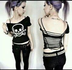 #skull #toxic #open back