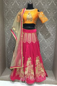 http://www.mangaldeep.co.in/lehengas/majestic-look-in-orange-and-crimson-red-in-designer-partywear-choli-suit-7881 For more information :- Call us @ +919377222211 (Whatsapp Available)