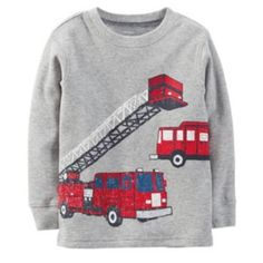 Carter's Firetruck Thermal Tee - Toddler