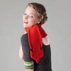 Fox scarf! By Donna Wilson. (Come on, you know I'd totally wear it).