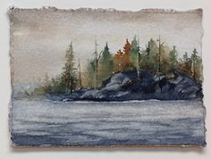 Tiny Treasure #3 by Theda Neubauer-Hewuse Watercolor ~ 2.5 x 3.5