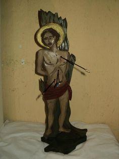 Escultura de São Sebastião  feita por Bianca Branco em Ateliê de Artes 587