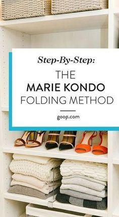 KonMari Method – Folding Guide For Clothes Organization tips to get your living room in order. We've laid out the basics of the Marie Kondo approach along with an illustrated guide to her folding technique. Deep Cleaning Tips, House Cleaning Tips, Spring Cleaning, Cleaning Hacks, Cleaning Closet, Diy Hacks, Organisation Hacks, Home Organization, Organizing Tips