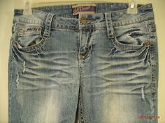 *Wall Flower*Authentic Denim Jeans JuniorWomens Size11*Flare*32x32 NEW Destroyed got to: www.stores.ebay.com/sonshinehighendjeans2013 FREE SHIPPING!!!!