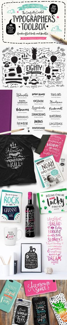 The Typographer's Toolbox by Nicky Laatz on Creative Market #font #handletter