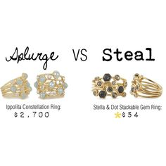 Splurge VS Steal: Ippolita and Stella & Dot, created by stellashea  http://www.stelladot.com/denikaclay