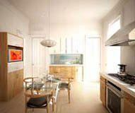 Brooklyn Brownstone Renovation - modern - kitchen - new york - Murdock Solon Architects 3d Interior Design, Interior Rendering, Kitchen New York, Wood Table Design, Brooklyn Brownstone, Kitchen Views, Modern Kitchen Design, Basement Remodeling, Architects