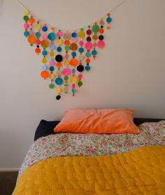 Home: Eleven rooms to be inspired by  (A splash of neon: Cloth Poppy. Via Cloth Poppy.)