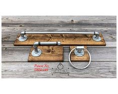 Your place to buy and sell all things handmade Rustic Industrial, Rustic Modern, Rustic Style, Galvanized Pipe, Household Cleaners, Garage Workshop, Towel Holder, Wood Pieces, Office Gifts