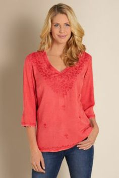 Etiene Top - Soft Tunic Top, Marbled Tunic Top | Soft Surroundings