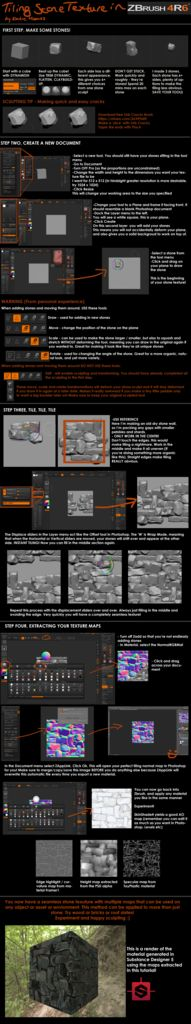 Tiling Stone Texture in Zbrush - Polycount Forum