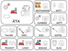 Teckenkartor Sign Language Book, Learn Sign Language, Learn Swedish Online, Swedish Language, Preschool Songs, Deaf Culture, School Signs, Farm Theme, Kindergarten