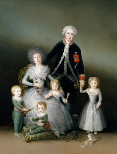 1787 Los duques de Osuna y sus hijos by Francisco de Goya y Lucientes