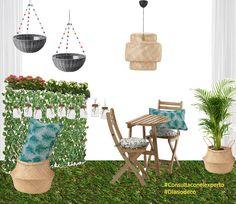 Propuesta para decorar un balcon o terraza pequeña