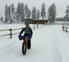 Mike McQuaide: snow bikes with Joe Brown of Methow Cycle and Sport. Lots of fun! I'll be writing a story about it for The Seattle Times.