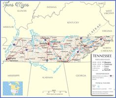 awesome Tennessee Map