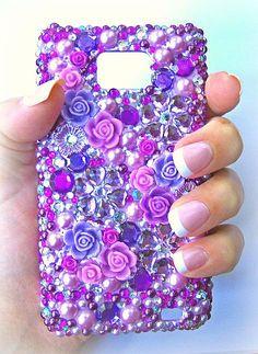 Custom Order for Handmade Decoden Bling Phone Case by KatysDecoDen, £25.00