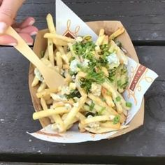 blue cheese french fries. #yummy #fries