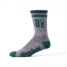 Wild Heather Data Performance Sock (Black w/ Green)