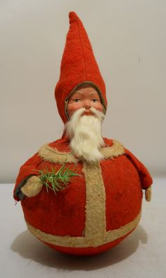 Vintage Roly Poly Christmas Santa Claus, c.1920's - so adorable!