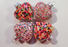 sprinkle filled ornaments